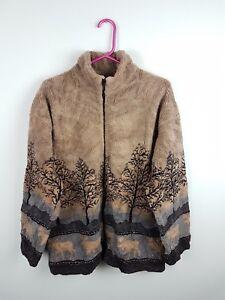 Vintage-Retro-Femme-Bright-Bold-Abstract-hiver-Athletic-Sport-Navajo-Veste-Polaire