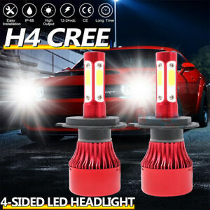 2X CREE H4 HB2 9003 990000LM 4-Sided LED Headlight Kit High//Low Power Bulb 6000K