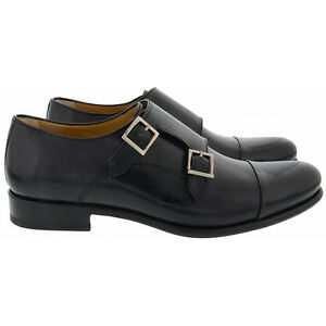 newest 0bde0 82c52 Dettagli su Francesco Benigno scarpe eleganti pelle uomo men's smart shoes  nero black 43