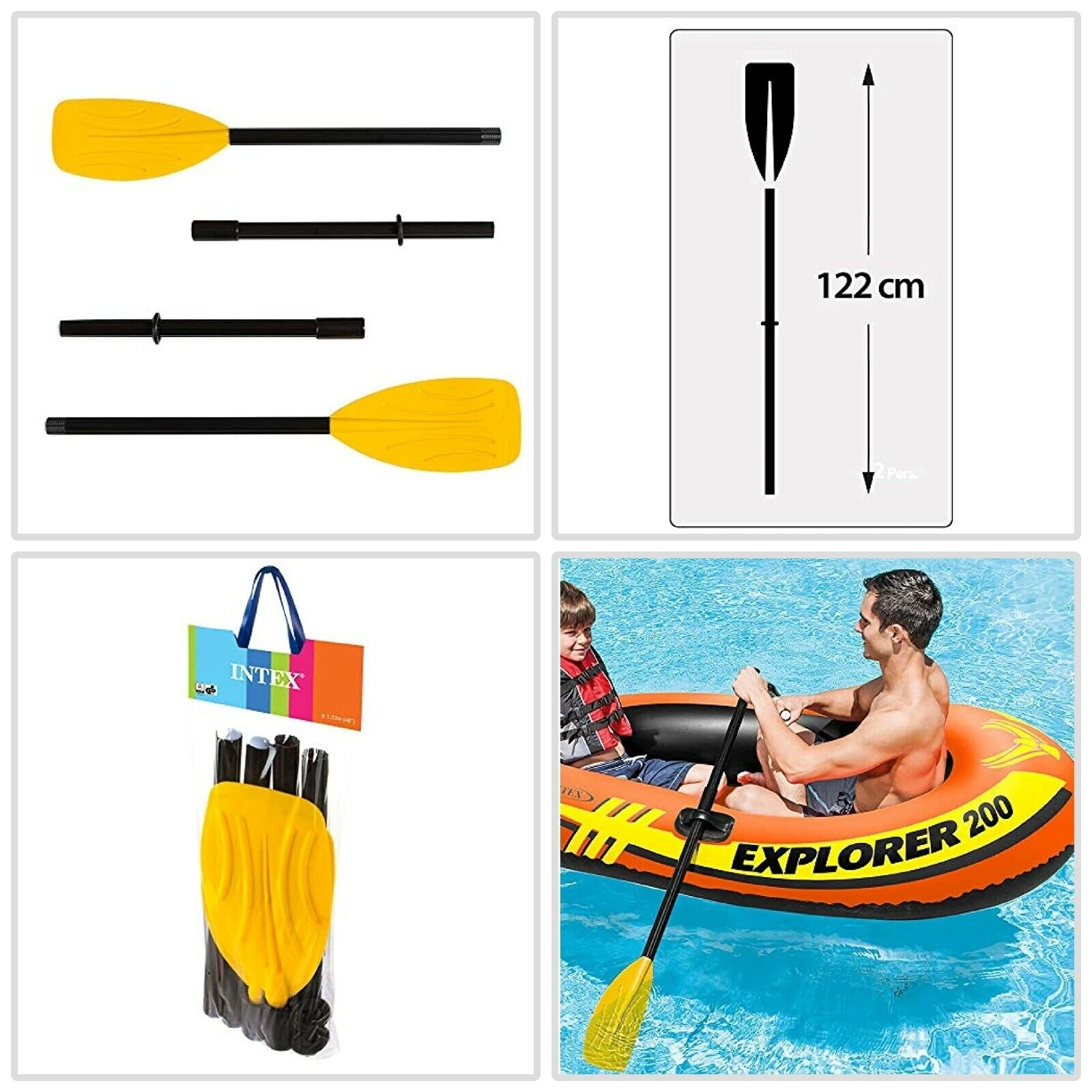 1 Pair of Dual Purpose 48 to 96/'/' Kayak Paddles and Inflatable Boat Oars US