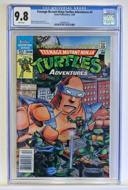 CGC 9.8 Teenage Mutant Ninja Turtles Adventures #3, Archie LS, ONLY 3 GRADED!