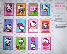 HELLO KITTY FABRIC panel A DAY WITH HELLO KITTY SOFT BOOK FABRIC CUTE NEW 2013