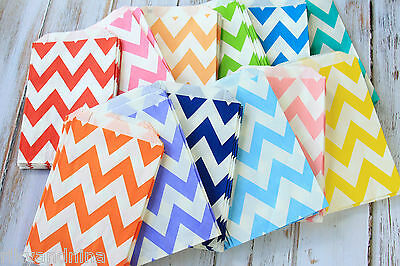 Big Chevron ZIG ZAG paper bags crafty colorful party favour giveaway treat bags