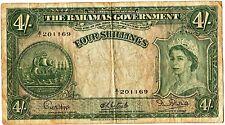 Bahamas 4 shilling qeii a1 201169 fine