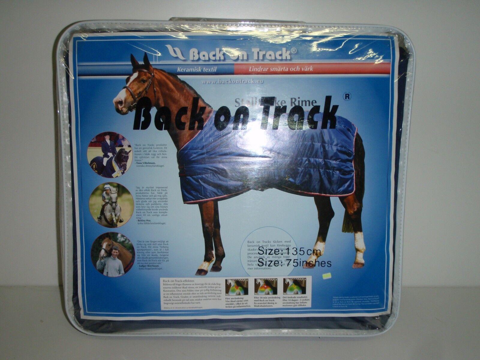 Back on Track Pferdedecke Sttuttidecke blu 135 cm = 75 in  Rug Rime 160g