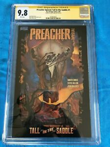 Preacher-Tall-in-the-Saddle-1-DC-CGC-SS-9-8-NM-MT-Signed-by-Garth-Ennis