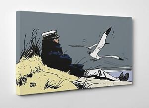 Quadro-Hugo-Pratt-Corto-Marin-Stampa-su-Tela-Poster-Pannello-Vernice-Pennellate