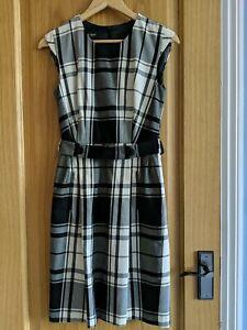 Plaid Wool Shift Dress UK size 8-10