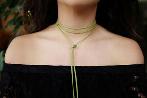 Black double wrap suede leather choker with knotted bolo bolo choker black choker double wrap choker