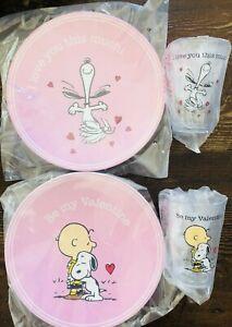 Pottery Barn Kids Valentines Day Peanuts Snoopy Plates