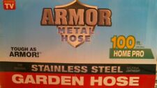 Armor Metal Hose Stainless Steel 100ft Blue Handle Free Shipping
