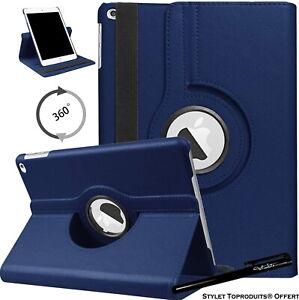 Housse Etui Bleu pour Apple iPad 10.2 2020 Coque avec Support Rotatif 360°