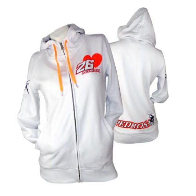 LADIES Dani PedRosa 26 Weiß Hoody Hoodie Official MotoGP Merchandise Honda