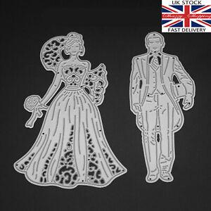 Bride-amp-Groom-wedding-die-set-fancy-metal-cutting-die-cutter-UK-seller-Fast-Post