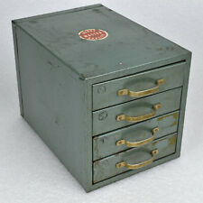 Vintage Four Drawer Green Metal Machinist Cabinet Box Wards Master Quality