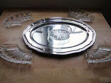 Ancien CENTRE DE TABLE ( CHEMIN DE TABLE) Verre et métal argenté