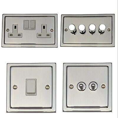 Screwless 1 G Gang 2 Way 40-400 W Dimmer Interrupteur de lumière-Chrome Brossé