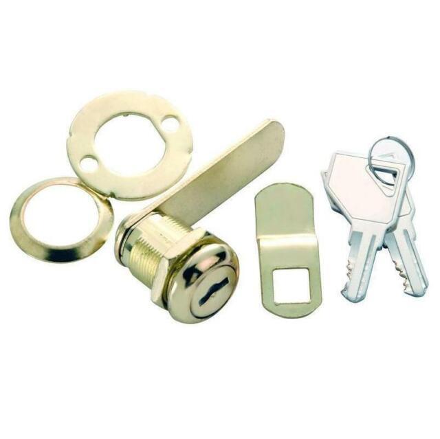 Brass Drawer Lock 7//8 Inch