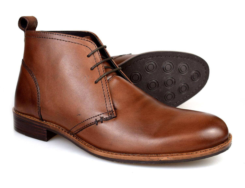Catesby Mens braun Leather Desert Stiefel MSC1714 UK 7-12 Free UK P&P
