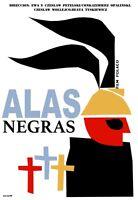 8227.alas Negras.polish Film.man.wings On Head.poster.movie Decor Graphic Art