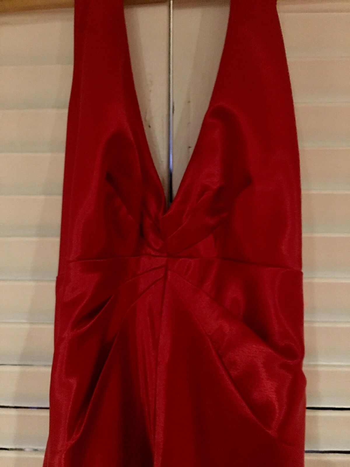 DAVE & JOHNNY RED SATIN PROM FORMAL DRESSSIZE 7 7 7 8 eed7be