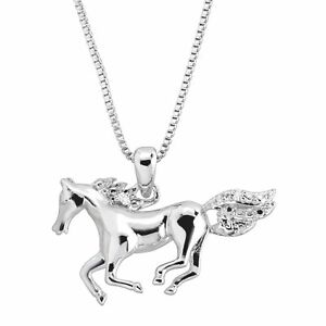 Horse-Pendant-with-Diamond-in-14K-White-Gold-Plated-Brass