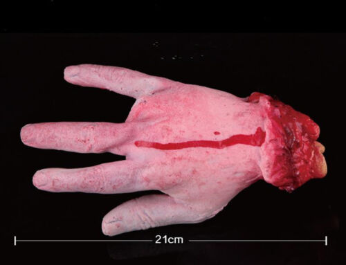 Scary Halloween Prop Fake Severed Lifesize Arm Hand Haunted House Bloody Horror