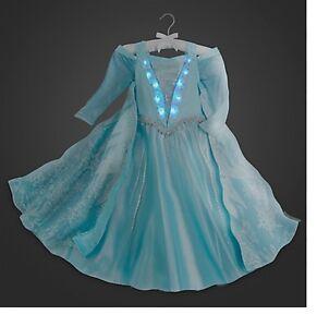 Disney Store Authentic Frozen Elsa Deluxe Light Up Costume