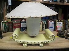 ART DECO FIBERGLASS SHADE TABLE LAMP MID CENTURY YELLOW MODERN RETRO USA 1900'S