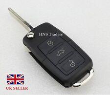 VW  3 Button Remote  Key Fob Case with BLADE Golf Bora Jetta Passat Polo