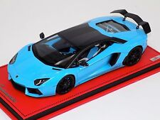 1/18 MR Collection Lamborghini Aventador LP760 Oakley Design Blue Leather Base