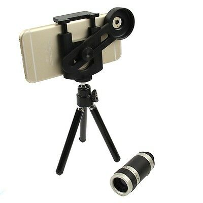Universal 8x Zoom Camera Lens Telescope Kit + Mount Holder Tripod for Cell Phone
