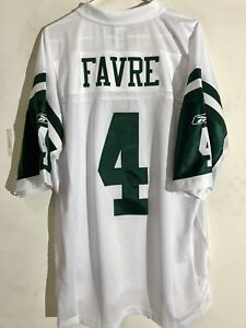 Reebok Premier NFL Jersey New York Jets Brett Favre White sz XL  9013c5019