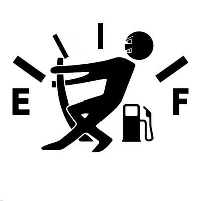 HIGH GAS CONSUMPTION Decal Fuel Gage Empty Stickers Funny Vinyl JDM Turbo