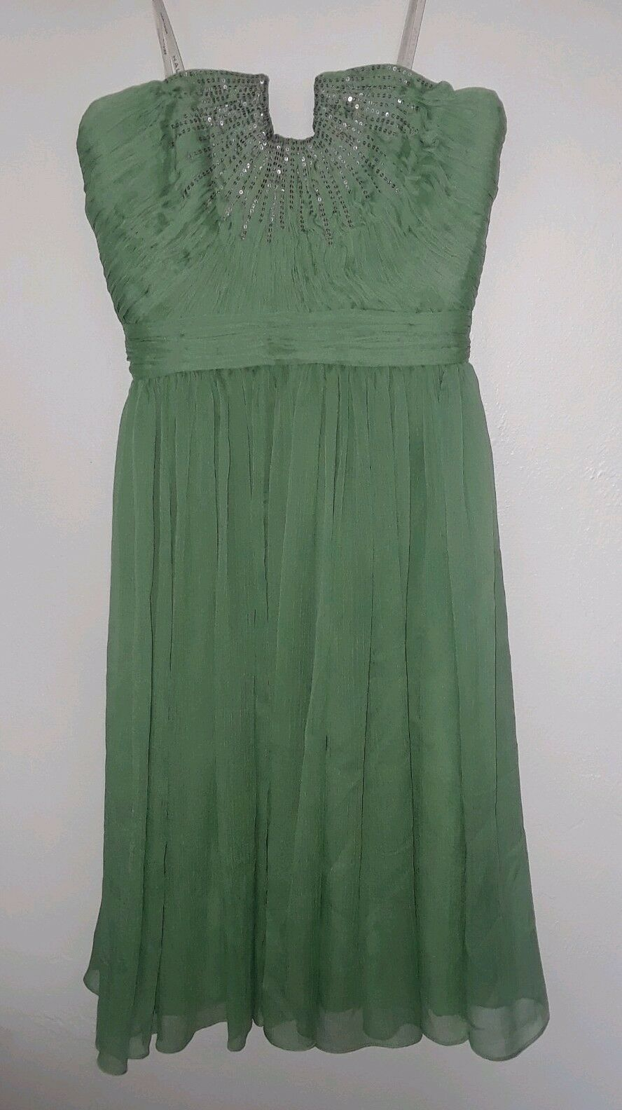 HALSTON HERITAGE Meadow Embellished Strapless Strapless Strapless Dress Size 0 NEW  545 0af233