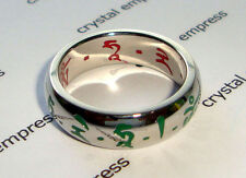 Feng Shui - 2016 Red & Green Tara Ring (Stainless Steel) - Size 8