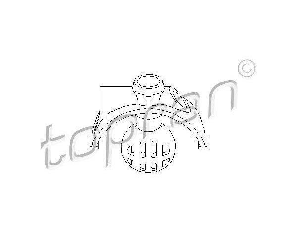 TOPRAN Ball Head, gearshift linkage 111 323