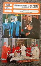 US Drama The Shoes of the Fisherman Anthony Quinn French Film Trade Card
