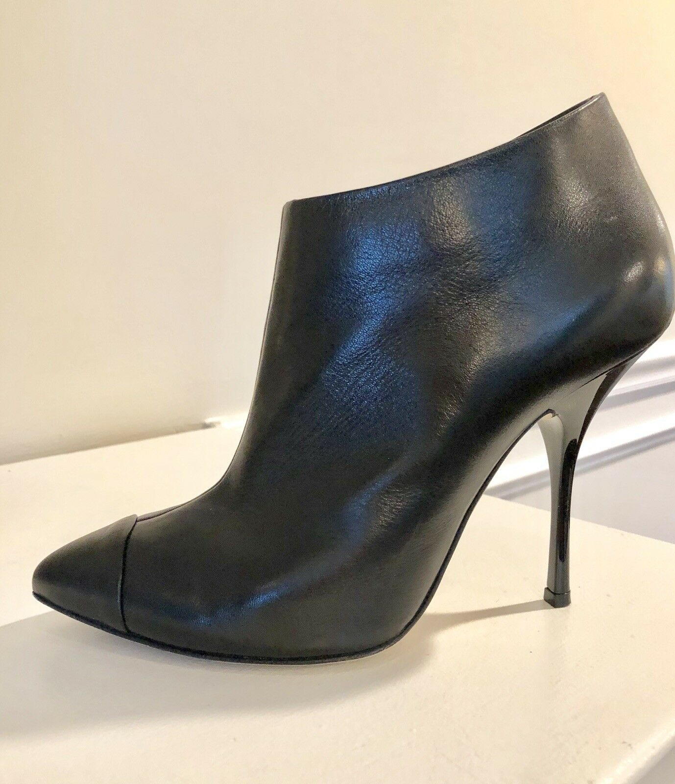 Giuseppe Zanotti Design Women's Leather Ankle Ankle Ankle Boots Heels shoes US 8-8.5 IT 39 590ac2