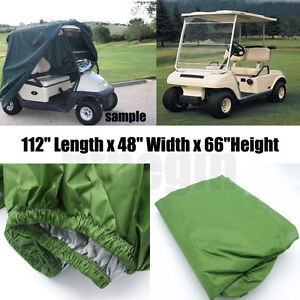 112-034-Green-Golf-Cart-Cover-4-Passenger-For-Golf-Yamaha-Cart-EZ-Go-Club-Car