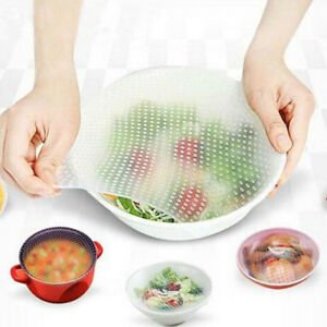Stretch-Reusable-Silicone-Bowl-Food-Storage-Kitchen-Wraps-Cover-Seal-Fresh-Lid
