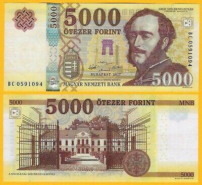Banknotes Original 2016 UNC 2017 P-NEW Hungria Hungary 2000 2,000 Forint