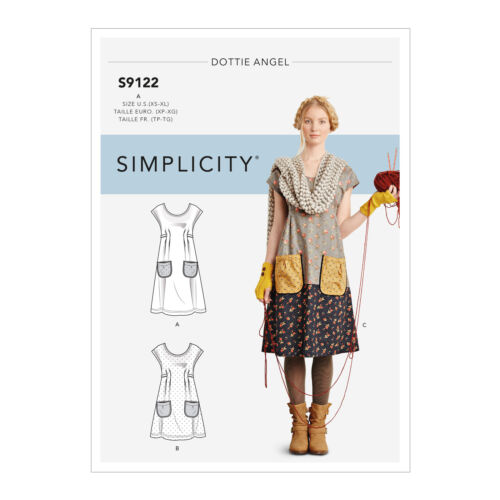 SIMPLICITY S9122 DOTTIE ANGEL MISSES WOMEN BOHO DRESS TUNIC SEWING PATTERN XS-XL