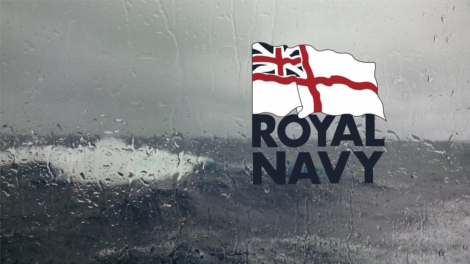 Royal Navy Internal Window Sticker Printed In reverse millitary sticker decal