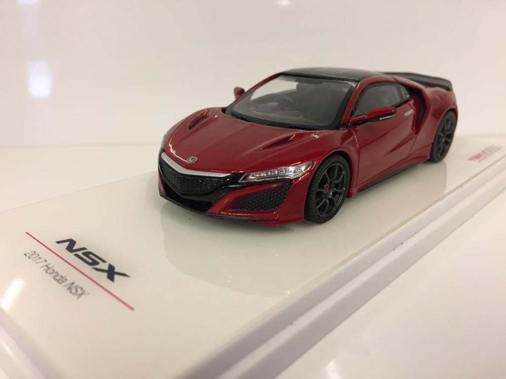 Honda NSX Valencia Red Pearl avec MODULO roue 1:43 TSM 430261 | Des Styles Différents