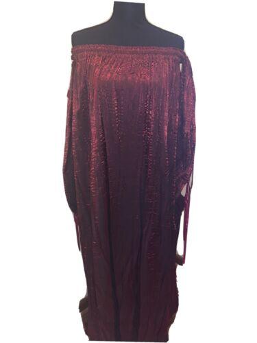 Womens Dark Red Under Dress Renaissance