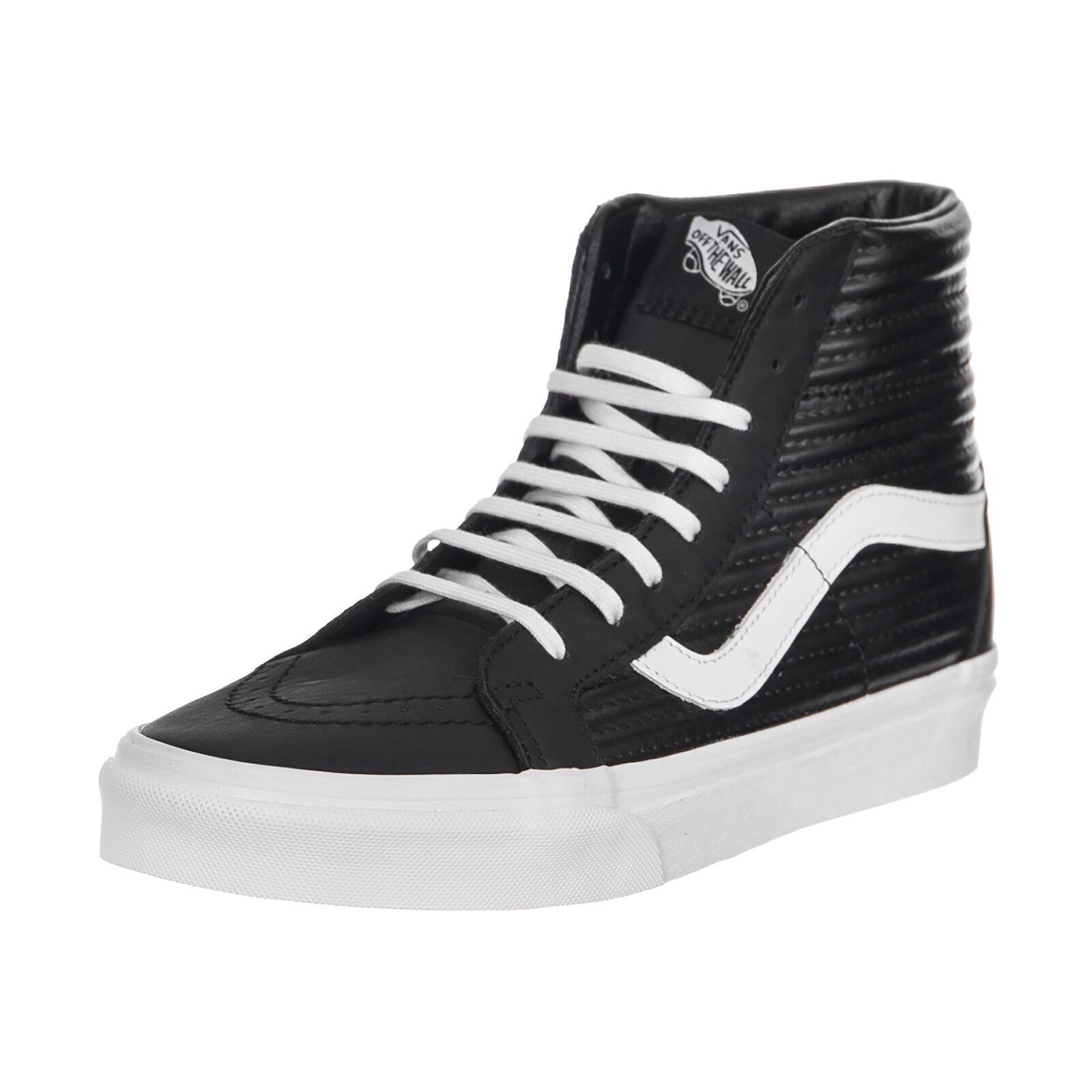 850e84f6ab VANS Sk8 Hi Reissue Moto Leather Black blanc De Blanc Women s Shoes Size 8  for sale online