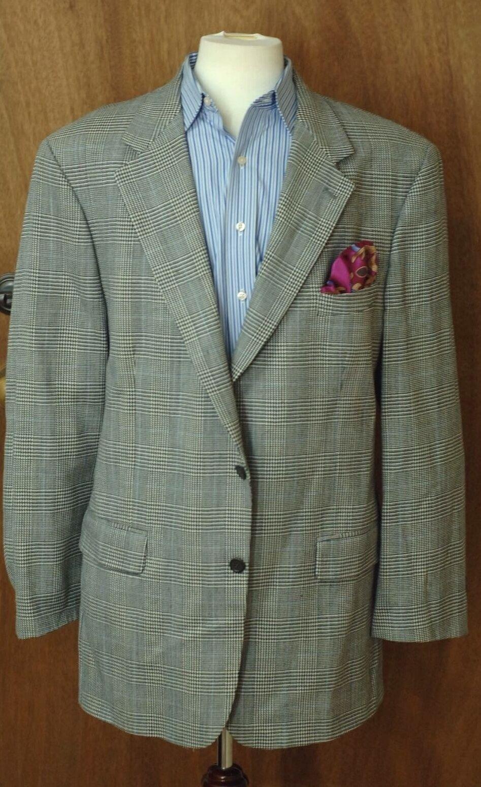 Brooks Brothers Herren Grau Kariert Wolle Sport Mantel Blazer 44l 44 Lang     | Moderate Kosten  | Schön und charmant  | Wirtschaft