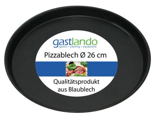 10 Stück Profiqualität aus Blaublech Pizzablech Ofenform rund Ø 26 cm Gastlando