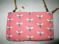 Fossil Key Per Multi Bees Pink Mini Crossbody Zip Top Bag
